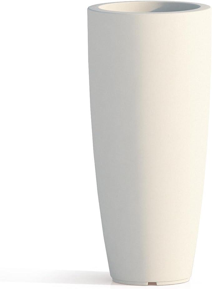 Vaso Agave In Resina Quadrato Arancio H70 33x33Cm