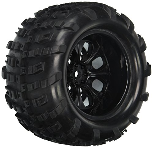 Redcat Racing 07065-10 Complete Wheels, Black (for 10Mm Axle, 2 Wheels)