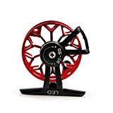 New 1Pc Ultra-light Former Ice Fishing Reels Wheel Fly Fishing Reel CNC Aluminum New (Red)