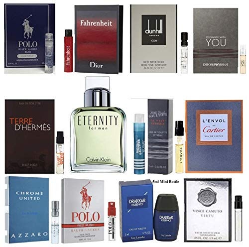 Pilestone's Selection: 12 Cologne Samples For Men All High End Designer Fragrances Good For Event Gifts