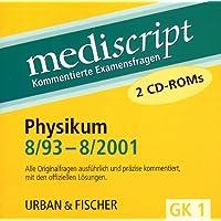 Physikum 8/93-8/2001, 2 CD-ROMs Alle Originalfragen ausführlich und präzise kommentiert, mit den offiziellen Lösungen. Für Windows 95/98/NT/2000