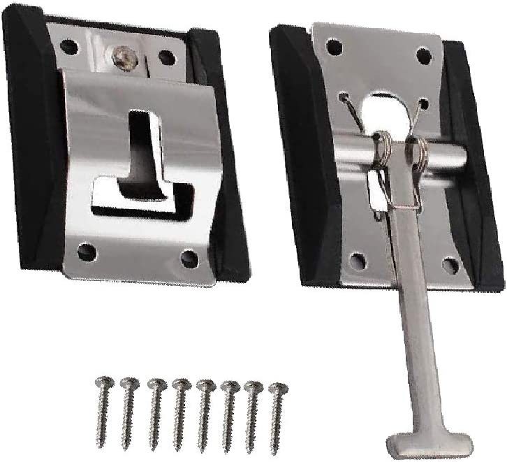 Podoy RV T Style Door Holder Catch Stainless Steel 5.1