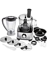 Profi Cook PC-KM 1063 compacte keukenmachine incl. mixer en citrusper, traploze snelheidsregeling, 1200 watt, roestvrijstalen behuizing