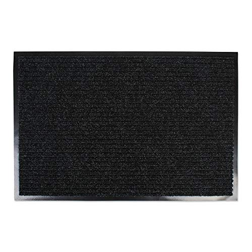J&M Home Fashions Heavy Duty Outdoor/Indoor Doormat, 30x48, Charcoal Black Utility Mat from J&M Home Fashions