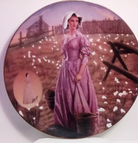 The Orchid Percale Dress Collector Plate (Costuming of a Legend: Dressing Gone With The Wind Collection)