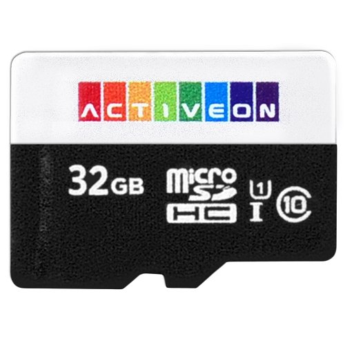 10 Pack ACTIVEON 32GB micro SD Memory Card High-Speed Class 10 UHS-I ACA23S32
