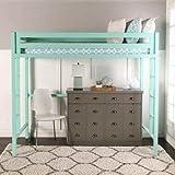 Best Walker Edison Bunk Beds - WE Furniture Premium Twin Metal Loft Bed, Mint Review