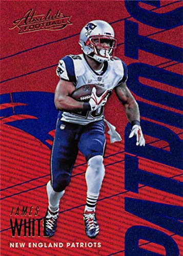 2018 Absolute Football Spectrum Blue #67 James White New England Patriots Official NFL Trading Card made by Panini