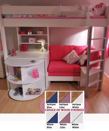 Hochbett mit schreibtisch und sofa  Amazon.de: 4 Stompa Casa Hochbett mit Schreibtisch, Bett Und Sofa ...