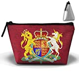 Simoner Majesty's Government Coat Of Arms Large Capacity Storage Bag Makeup Package Trapezoidal