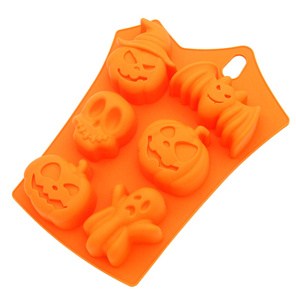 Muffin pans non stick,LKE Bakeware sets Halloween limited Silicone muffin pan for Cookie/Jello/Chocolate/Candy/Cake baking molds
