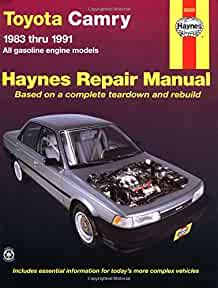 toyota camry 83 91 haynes repair manuals haynes 0038345010231 rh amazon com 1986 Toyota Corolla SR5 Coupe Champagne Toyota Corolla 1984