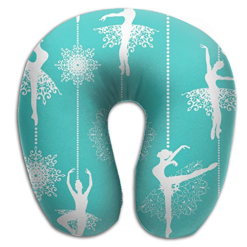 U-Shaped Pillow Neck Shoulder Body Care Ballet Cool Pattern Health Soft U-Pillow For Home Travel Flight Unisex Supportive Sleeping]()
