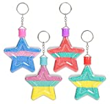 3'' STAR SAND ART BOTTLE KEYCHAINS, Case of 288