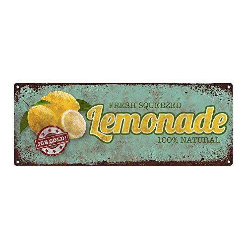 Lemonade Metal Sign, Kitchen Décor, Vintage, Retro, Rustic, Summer]()