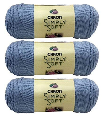 Caron Bulk Buy Simply Soft Yarn Solids (3-Pack) Light Country Blue H97003-9709