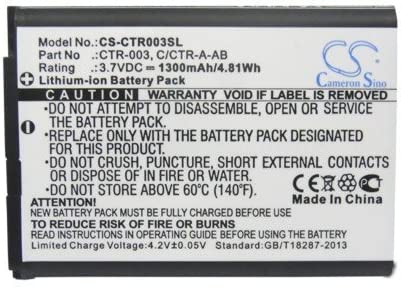 Cameron Sino? 1300mAh Li-ion Rechargeable 3DS CTR-001 MIN-CTR-001 N3DS Game Console Battery Replacement for Nintendo CTR-003 C/CTR-A-AB by Cameron Sino? [並行輸入品]