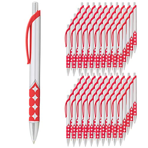 Davro (100 count) Retractable Ballpoint Pens Medium Point Black Ink Bulk School Office Supplies