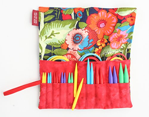 Denise2Go Interchangeable Knitting Needles, Sharp Short Tips Complete (US5-15) (Summer Garden) by Denise Interchangeable Knitting & Crochet