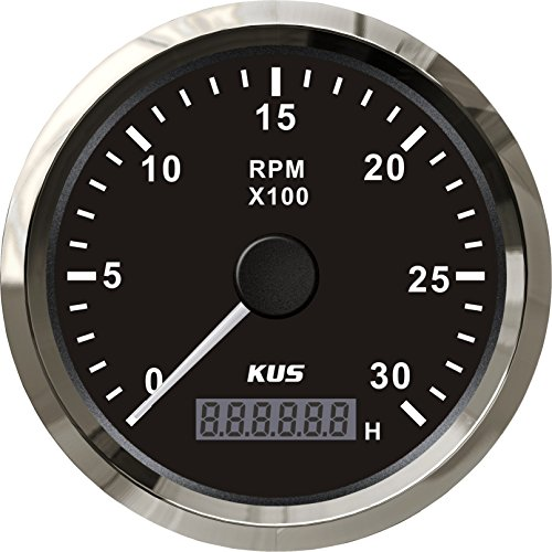 KUS Tachometer With Hour Meter 3000RPM For Diesel Engine 85MM 12V/24V Diesel Tachometer