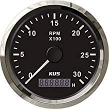 Kus Tachometer with Hour Meter 3000RPM for Diesel Engine 85MM 12V/24V