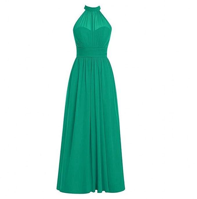 KA Beauty Womens Long Bridesmaid Dress High Neck Chiffom Prom Dresses: Amazon.co.uk: Clothing