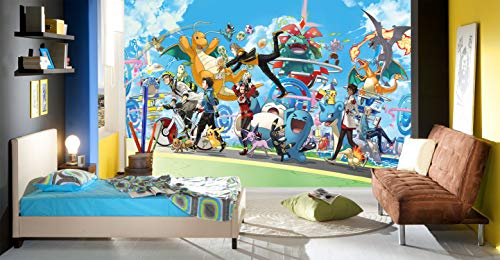 - 3D Murals for Pokemon 602 Japan Anime Wall Paper Print Decal Deco Indoor Wall Mural Self-Adhesive Wallpaper MXY Wallpaper US Maze (Vinyl (No Glue & Removable), 【123