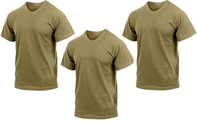 Amazon.com  Military Ar 670-1 Compliant Coyote Brown T-Shirt ... a8c013eb905