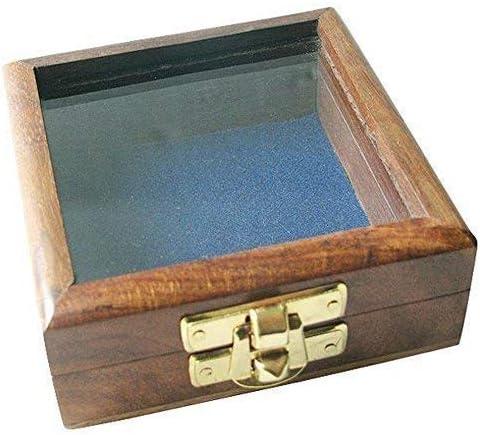 Linoows Brújula Caja Marítimo Caja de Madera con Latón Cierre, Caja con Tapa de Cristal: Amazon.es: Hogar