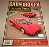Car & Driver Magazine, September 1985 (Ferrari Testa Rossa, Buick LaSabre, Continental Mark VII, Isuzu I-Mark)