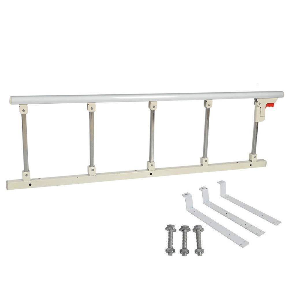 ベッドフェンス, 高齢者のためのベッドアシストハンドレール - 安全折りたたみ式ベッドサイドハンドレール、高齢者がベッドに出入りするのを手助け - ツールフリーの組み立て (色 : Silver White)  Silver White B07QJ1STMG