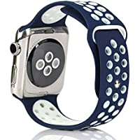 Bemorcabo Replacement Bands for Apple Watch, Silicone Smart Watch Bracelet Strap, Sport Style Wristband, for iWatch...