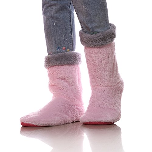 Footwear Skid Cozy Indoor Soft Pink Boots Warm Floor Non Home Womens Socks qZ0FwI
