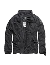 Brandit Men's Britannia Vintage Military M65 Style Short Army Lightweight Jacket X-Large Black