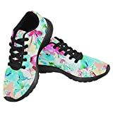 InterestPrint Women's Jogging Running Sneaker Lightweight Go Easy Walking Casual Comfort Sports Running Shoes Size 10 Beautiful Delicate Petunias