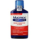 Mucinex Fast-Max Adult Severe Congestion and Cough Liquid, 9 oz (Pack of 12)