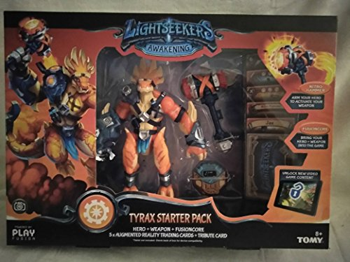 LightSeekers Awakening Tyrax Starter Pack Includes: FusionCore, Tyrax Hero, 2 Exclusive AR Cards, Nitro Hammer, 3 AR Combo Cards, Unique Tribute Card/Arm Your Hero To Activate Your Weapon Ages 8+ New! - Nitro Hammer