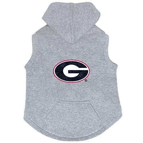 Football Ncaa Dog Jersey (NCAA Georgia Bulldogs Pet Hooded Crewneck, XL)