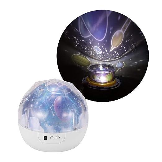 Proyector de estrellas luz de la noche, decorativo del hogar ...