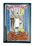 Hand Painted Ceramic Switch Plate (Home Sweet Home Cats)
