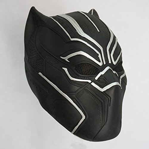 CX shouzuo Black Panther Mask Infinity War Halloween Costume Latex Mask -