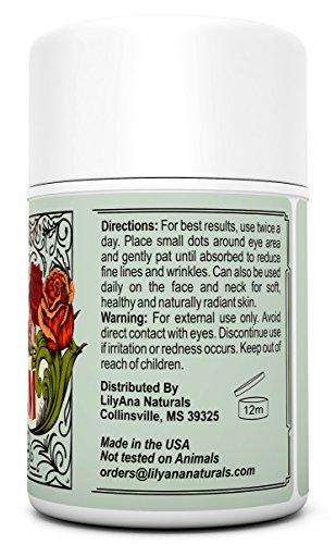 51SXApU7K6L - Eye Cream Moisturizer (1.7oz) 94% Natural Anti Aging Skin Care