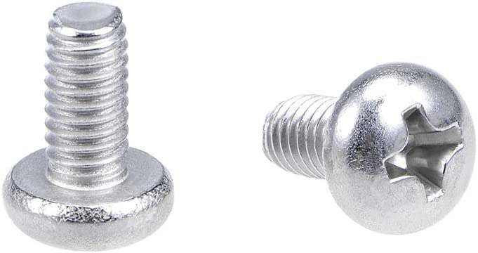 1-8PCS M4 x 8mm Phillips Pan Head Toolless Thumb Screws Nickel Plated