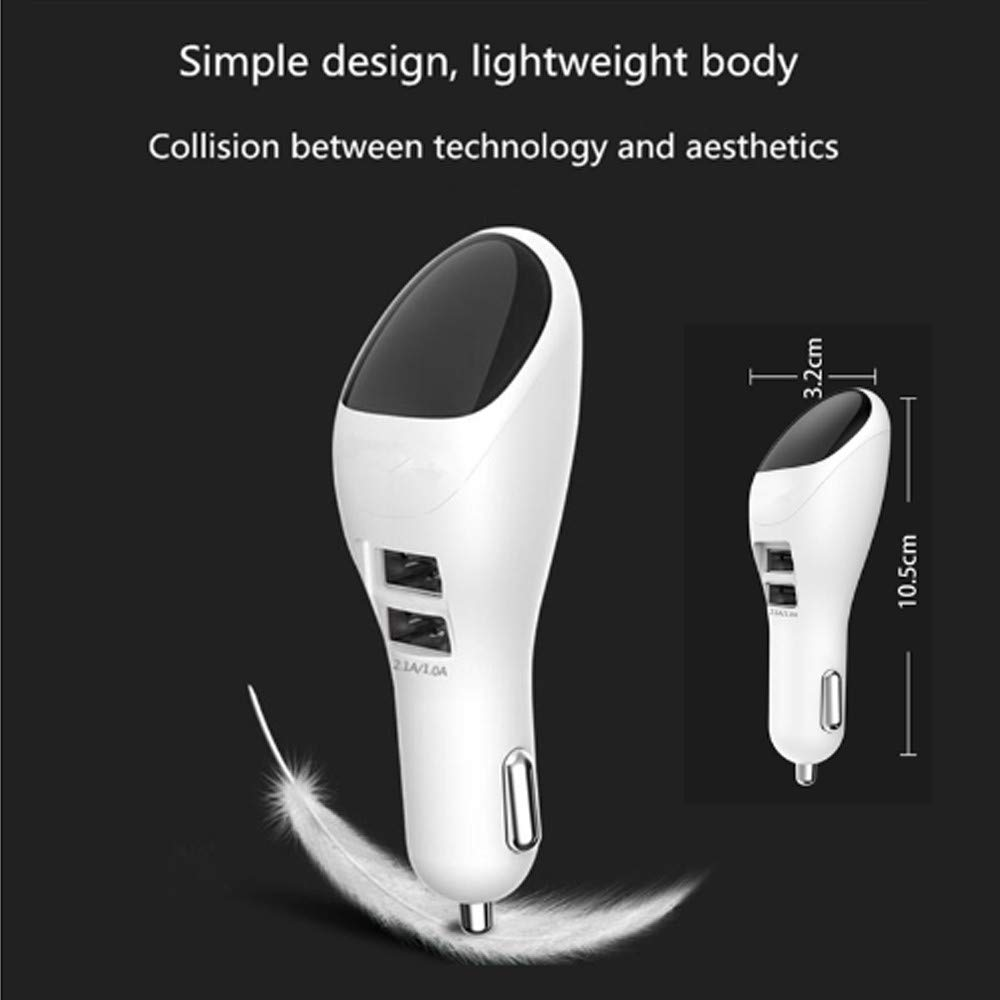 Carejoy Car Air Purifier Ionizer, Car Air Freshener with Dual USB Fast Car Charger for Remove Cigarettes Smoke and Dust, PM 2.5 Air Pollutants, Odors