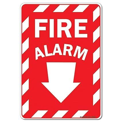 Amazon.com: OSHA Aluminum Sign - Fire Alarm Emergency Sign ...