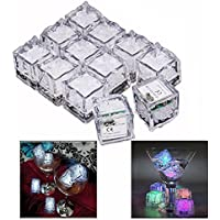 Gearmax® Water Submersible Decorative LED Liquid sensor Ice Cubes Light - 12 pack Multicolor