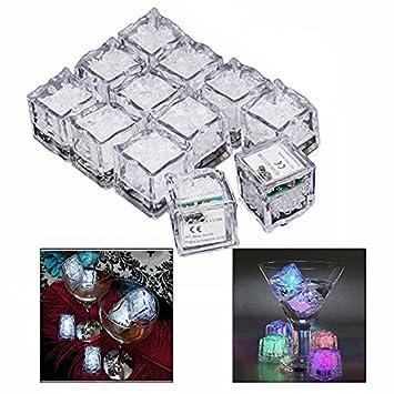 Gearmax® 12pcs Hielo Color Colorido LED Flash en la Noche / Decoración de la Boda