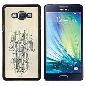 Eason Shop / Premium SLIM PC / Aliminium Casa Carcasa Funda Case Bandera Cover - Cita Caligrafía motivación - For Samsung Galaxy A7 ( A7000 )