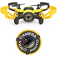 Luxon Mini drone 2.4 GHz 4 CH 6 axis gyro With aerial camera (yellow)【Japan Domestic genuine products】