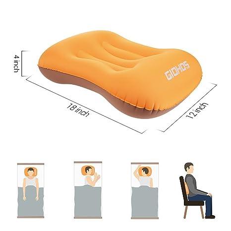 Almohada hinchable para camping, ligera, compacta, portátil, para ...